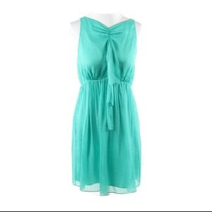 Light green seersucker MILLY overlay sun dress 6